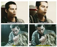 """i liked this part because once stiles was all """"im tired of being robin scooooottttt"""""""