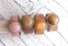 Lederringe - Lederring mit Zamak Perle in 4 Farben möglich - ein Designerstück von Charme-charmant bei DaWanda