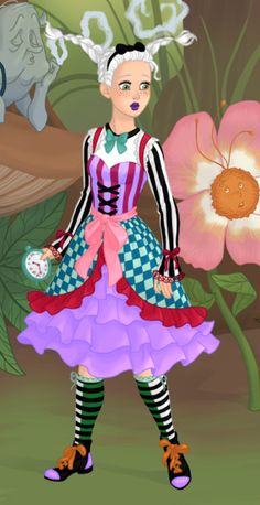 Alice, from Azalea's Dolls, if she would've been brought up by Mad Hatter :3