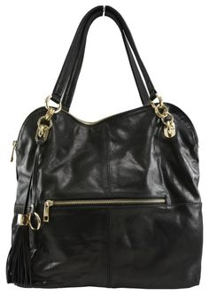 Manhattan Leather Slouch Tote in Black - $249.00   Check it out at: http://www.bagaholics.com.au/leather-bags-c6/manhattan-leather-slouch-tote-in-black-p591/