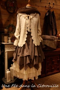 Lovely sweater and petticoat, don't like the uneven thing in between...