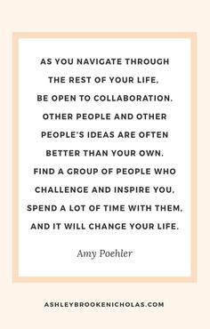 I just love Amy Poehler. If you'd like to read more inspiration quotes, click…