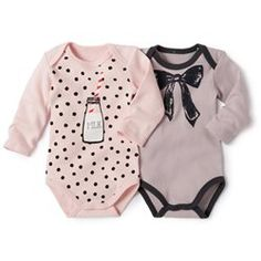 How cute are these baby girl rompers! Love the polka-dot and milk one. Baby Girl Shirts, Baby Girl Romper, Cute Baby Girl, Baby Love, Cute Babies, Baby Baby, Baby Outfits, Kids Outfits, Baby Girl Fashion