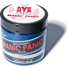 Manic Panic Voodoo Blue Classic Hair Dye ($14) ❤ liked on Polyvore featuring beauty products, haircare, hair color, hair and makeup
