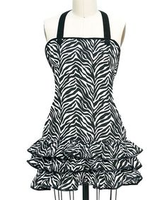 Take a look at this Zebra Frill Apron - Women by Kay Dee Designs on #zulily today!