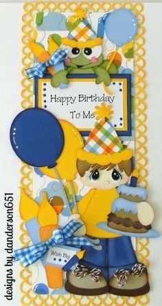 newly listed on ebay...danderson651 paperdesignz.com Scrapbook Patterns, Scrapbook Borders, Scrapbook Titles, Scrapbook Embellishments, Birthday Scrapbook, Baby Scrapbook, Scrapbook Paper, Happy Birthday Boy, Paper Piecing Patterns