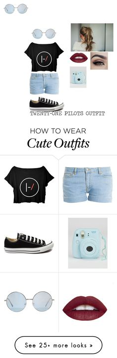 """""""Twenty One Pilots Outfit"""" by vanessabear on Polyvore featuring Paul & Joe, Converse, women's clothing, women, female, woman, misses and juniors"""