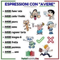 Italian Verbs, Italian Grammar, Italian Vocabulary, Italian Phrases, Italian Quotes, Grammar And Vocabulary, Italian Language, Italian Colors, Learn To Speak Italian