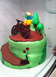 Mountain biker cake