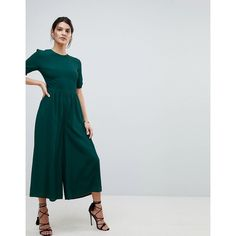 1bbc64547da8 Shop ASOS Tea Jumpsuit with Ruched Sleeve Detail at ASOS.