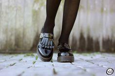 FashionCoolture - look du jour floral dress black coat Shoulder