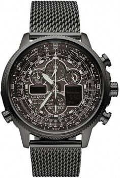 9a72d3859b39 Citizen Eco-Drive Navihawk A-T Mens Mesh Strap Chronograph Watch