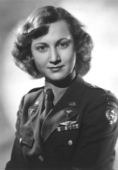 Portrait of Virginia Russell Reavis, circa 1943 - A woman pilot from WW2