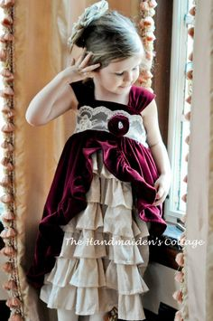 Tea Party Dress PATTERN by the Handmaiden's by HandmaidensCottage