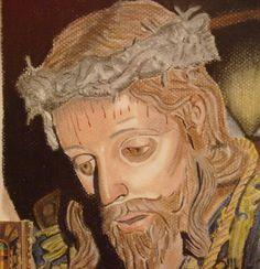 Nazareno de Luarca hecho a cera pastel