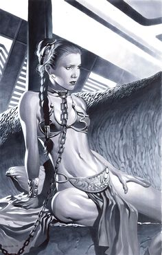 The Art Of Animation, Chris Stevens. Princess Leia from Star Wars