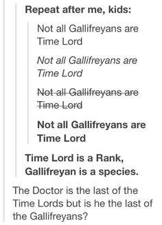 I have a theory where, in season one, the Daleks hid from the Doctor, Captain Jack and Rose. WHAT IF SOME OF THE GALLIFREYANS DID THE SAME?!?!?!