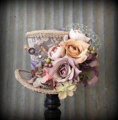 Bloem Mini cilinderhoed paarse Mini-top Hat Alice in