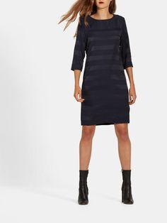 Jurk Met Strepen Donkerblauw - Costes Fashion