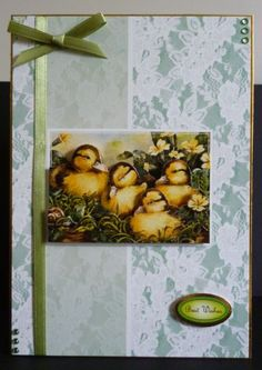 Card made from the Spring Is In The Air decoupage collection