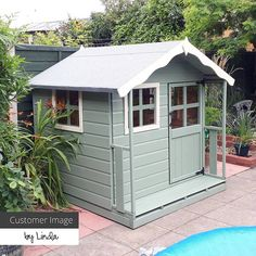 Childrens Playhouse Plans 188658671875603988 - 5 x 5 Waltons Honeypot Poppy Apex Wooden Playhouse Source by Outside Playhouse, Backyard Playhouse, Build A Playhouse, Playhouse Kits, Simple Playhouse, Painted Playhouse, Playhouse Interior, Playhouse Decor, Childrens Playhouse