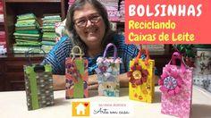 Como criar Bolsas reciclando Caixas de Leite - YouTube
