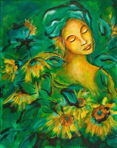Sunflowers by Flora Aube