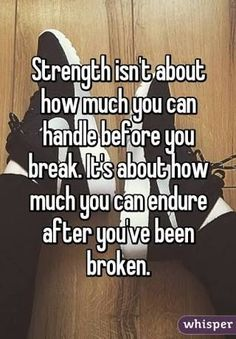 Have strength