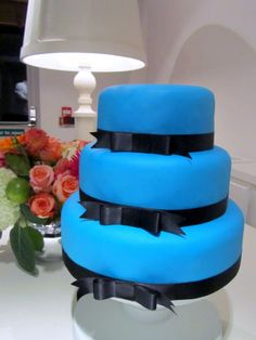 Royal blue ruseteilla - Royal blue and bows