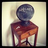 Chalkboard globe - Coconut Robot