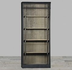 Reclaimed Pine Flexible Bookcase with Black Paint Finish
