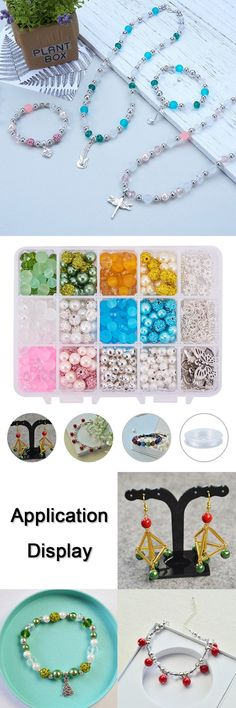 350pcs 7 Sized Flower-Shaped Spacer Beads Cap DIY Jewelry Metal Accessories