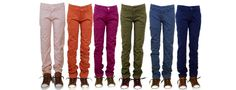 Chino's in all winter 13 colors, slim fit. Mooie pasvorm, rank en slank op het been.