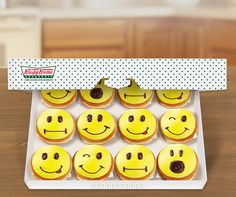 Get ready to smile :) this week at Krispy Kreme (US/CAN) Funny Welcome Signs, Krispy Kreme Doughnut, Beignets, Doughnuts, Smiley, Waffles, Sweet Treats, Menu, Sweets