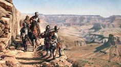 Spain / Explorer- Francisco Vazquez de Coronado led a large European exploration into North America's interior. A Spanish missionary, spoke of seeing golden cities in 1539. The following year, Vázquez de Coronado was selected by the viceroy to lead a mission to further explore these claims. Traveled to the Colorado Plateau, and and became the first Europeans to see the Grand Canyon.They continued their search through what is now Texas, Oklahoma and Kansas, before giving up their quest.