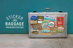 STICKER for BAGGAGE - TRAVELER'S FACTORY | トラベラーズノートを中心としたステーショナリー・カスタマイズパーツ・オリジナルグッズ・雑貨の販売店
