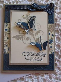 Handmade Greeting Card: Butterfly Birthday Wishes von ConroysCorner