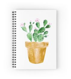 A personal favorite from my Etsy shop https://www.etsy.com/listing/479443316/gold-cactus-notebook-spiral-notebook