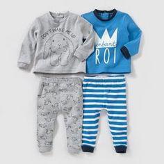 Pyjama 2 pièces (lot de 2) 0 mois-3 ans R baby - Pyjama, sous-vêtements