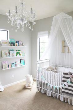 10 beautiful nursery inspirations round up nursery inspirationnursery ideasroom - Baby Girl Room Chandelier