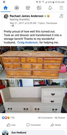 Craig Anderson, Feeling Thankful, Furniture Vanity, Old Dressers, Storage, Home Decor, Antique Cabinets, Purse Storage, Decoration Home