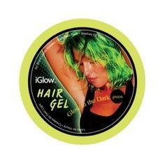 Selvlysende hår Grøn, super sejt. #rave #temafest