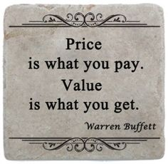 Price is what you pay.  Value is what you get.  Warren Buffett Quote #MakingTheOrdinaryExtraordinary Wisdom Quotes, Quotes To Live By, Me Quotes, Motivational Quotes, Inspirational Quotes, Worth Quotes, Real Estate Memes, Real Estate Tips, Warren Buffett