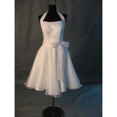 Vintage 1950\'s Halter White Tulle Short Formal Dress/VHSO6001