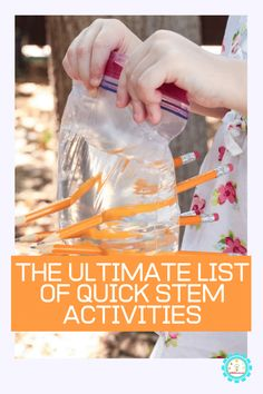Easy STEM activities are lots of fun But you don t need days for these quick STEM projects These quick STEM activities take 10 minutes or less for easy STEM challenges Quick STEM challenges are the perfect way to teach STEM fast and without the hassle Steam Activities, Science Activities, Science Experiments, College Activities, Science Books, Educational Activities, Summer Activities, Computer Science, Kindergarten Stem