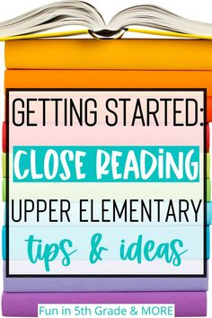 Learn all about what close reading is and how it will benefit your students! This post has lots of tips and ideas on how to teach your students close reading strategies. These tips & ideas will keep your students engaged and having fun. Also included are some high interest passages to get started close reading in your upper elementary classroom.