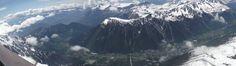 panoramic view of Chamonix, Mont-Blanc city. Mount Everest, France, Mountains, City, Nature, Travel, Mont Blanc, Naturaleza, Viajes
