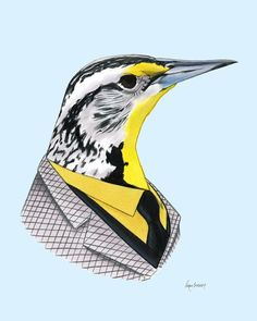 Hey, I found this really awesome Etsy listing at https://www.etsy.com/listing/164036239/western-meadowlark-art-print-8x10