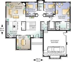 level Mazimized space, remarkable master suite, 3 bedrooms, ceilings, am… - shedhouse House Plans One Story, House Plans And More, Best House Plans, Dream House Plans, Story House, Small House Plans, House Floor Plans, 3 Bedroom Home Floor Plans, Master Suite