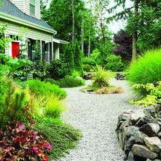 gravel...instead of grass as groundcover backyard-ideas
